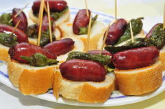 Spanish pinchos Royalty Free Stock Image