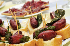 Spanish pinchos Stock Photos