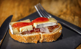 Spanish pintxo or pincho, montadito and tapas, from Basque Count Royalty Free Stock Photography