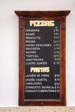 Spanish Pizza and Pasta Menus Royalty Free Stock Images
