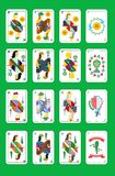 The spanish playing cards Royalty Free Stock Images