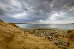 Spanish Point Sand Dune. West Clare Ireland Wild Atlantic Way Dramatic Sky Sea-shore Royalty Free Stock Image