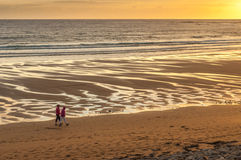 Spanish Point Sunset Walk. Spanish Point Sunset West Clare Ireland Sunset Wild Atlantic Way Golden Sky Royalty Free Stock Photo