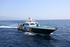 Spanish police boat Royalty Free Stock Photos