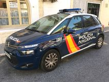 Spanish police car - Citroen c4 Stock Image