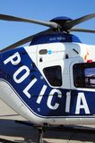 Spanish police helicopter. Royalty Free Stock Photography