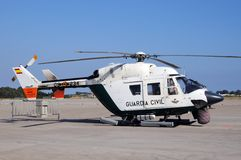 Spanish police helicopter. Royalty Free Stock Image