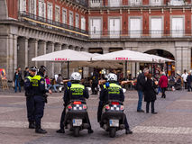 Spanish Police Madrid Stock Photo