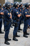 Spanish Police in Madrid during the protests Royalty Free Stock Photography