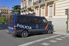 Spanish police van Stock Photos