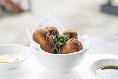 Spanish portuguese beef pork fried croquette croquetes snack foo Royalty Free Stock Image