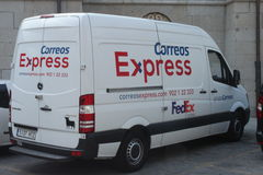 Spanish Post Delivery Van Royalty Free Stock Photo