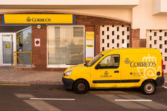 Spanish Post Office and Delivery Van Stock Photo