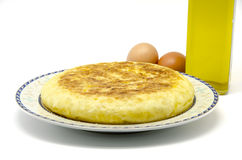 Spanish Potato Omelet Stock Photo