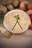 Spanish potato omelette Stock Image