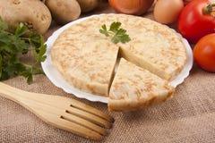 Spanish potato omelette Stock Photo