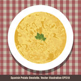 Spanish Potato Omelette. Typical Spanish `Tortilla`. Royalty Free Stock Photo