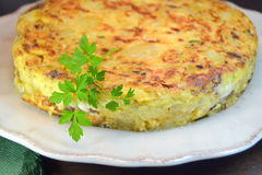 Spanish potato omelette Stock Images