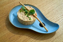 Spanish potato salad with salad Royalty Free Stock Photography