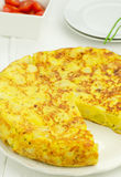 Spanish potato tortilla Royalty Free Stock Image