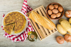 Spanish potatoes omelette Stock Photo