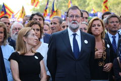 Spanish prime minister Mariano Rajoy at manifestation against terrorism Royalty Free Stock Photography