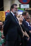 Spanish prime minister Rajoy at manifestation against terrorism Stock Image