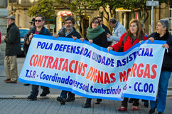Spanish protest royalty free stock image