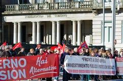 Spanish protest royalty free stock photos