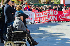 Spanish protest royalty free stock images