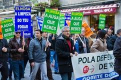 Spanish protest stock image
