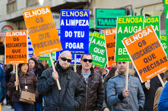 Spanish protest royalty free stock photography
