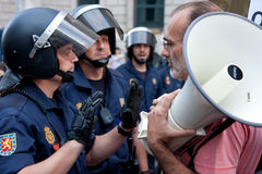 Spanish Protest in Madrid Stock Photo