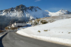 Spanish Pyrenees in winter, Navarrese Royalty Free Stock Photos