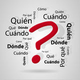 Spanish questions Stock Photography