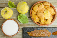 Spanish quince paste Stock Photos