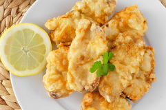 Spanish rape rebozado, battered and fried angler Stock Photo