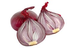 Spanish red onion Stock Photography