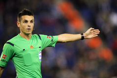 Spanish referee Carlos Del Cerro Grande Stock Image