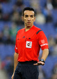 Spanish referee Perez Montero Stock Images