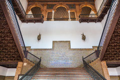 Spanish Renaissance Revival Staircase Stock Image