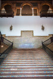 Spanish Renaissance Revival Staircase Stock Photography