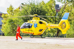 Spanish rescue helicopter Royalty Free Stock Images