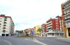 Spanish resort empty street Stock Images