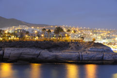 Spanish resort Torviscas at dusk Stock Photo