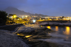 Spanish Resort Torviscas at night Royalty Free Stock Images