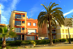 Spanish resort town houses Royalty Free Stock Photos