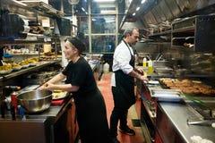 Spanish restaurant kitchen Royalty Free Stock Image