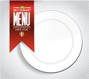 Spanish restaurant menu texture banner Royalty Free Stock Photos