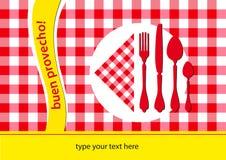 Spanish restaurant table-cloth Stock Image